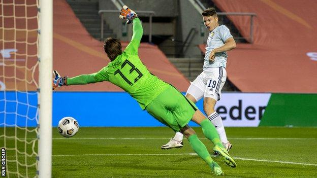 Kevin Nisbet scored within just a few minutes of coming on put Scotland back in front