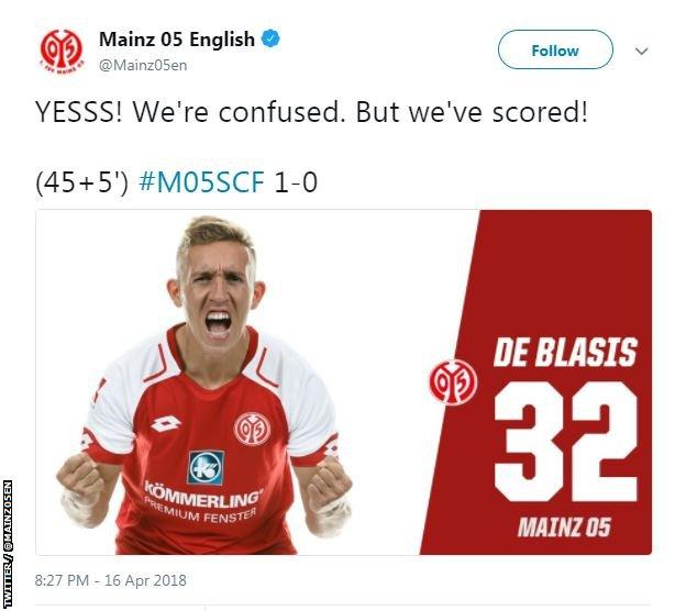 Tweet from Mainz