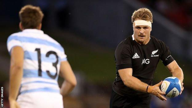 Sam Cane in action for New Zealand against Argentina in 2020