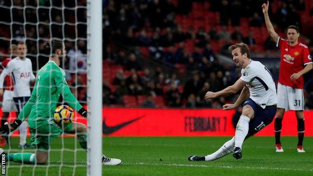 Harry Kane was seeking his 100th Premier League goal and went close several times