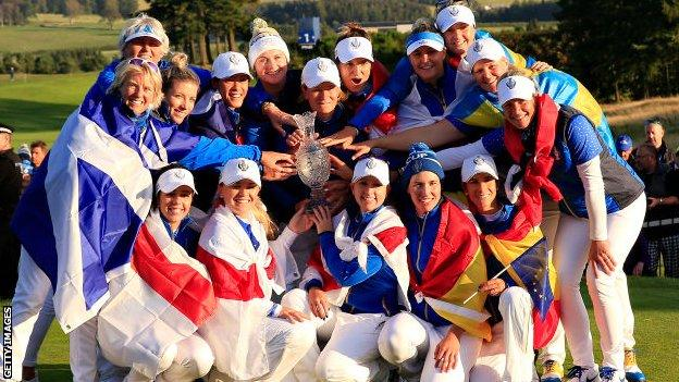 Europe's victorious Solheim Cup team from 2019