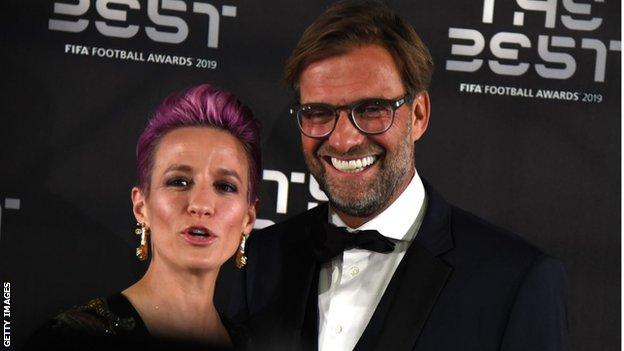 Megan Rapinoe and Jurgen Klopp