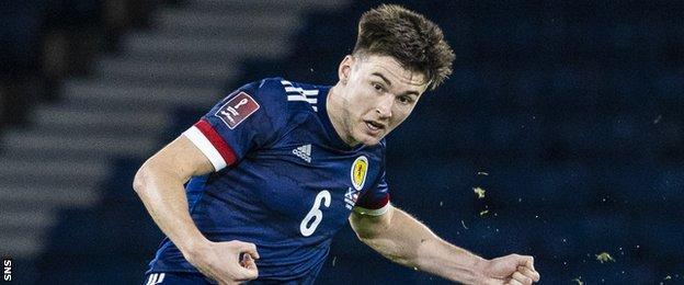 Scotland defender Kieran Tierney