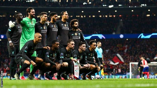 The Liverpool starting XI that faced Atletico Madrid in the Champions League on 19 February 2020