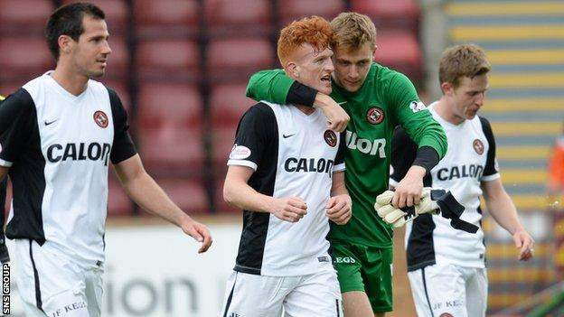 Simon Murray scored his first Premiership goal in the win at Fir Park