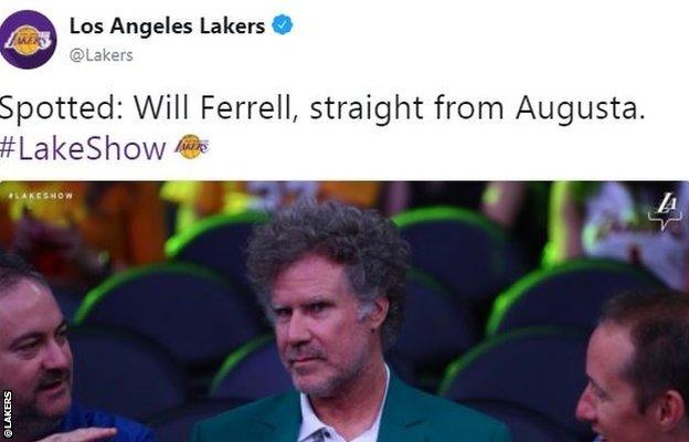 Hollywood star Will Ferrell was courtside for the Lakers' defeat against Houston