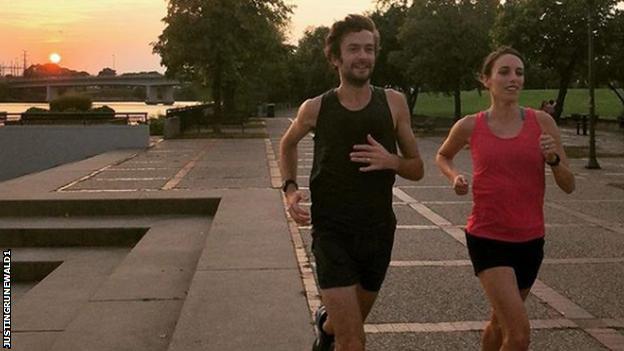 Justin and Gabriele run
