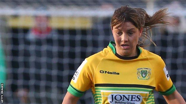 Gemma Evans has featured for Wales in their qualification campaigns for the 2017 Women's European Championships and 2019 Women's World Cup
