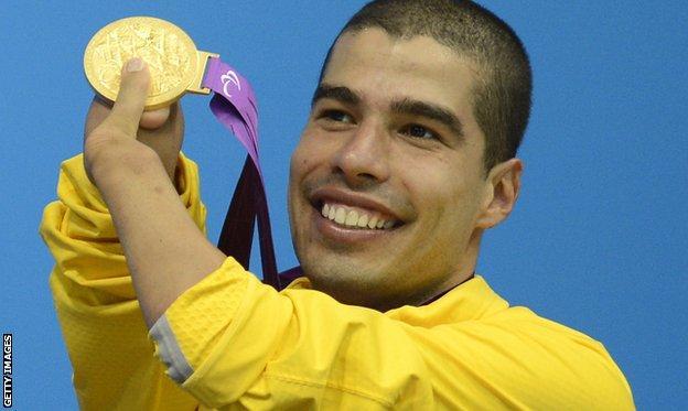 Brazilian swimmer Daniel Dias