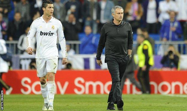Cristiano Ronaldo and Jose Mourinho were together at Real Madrid