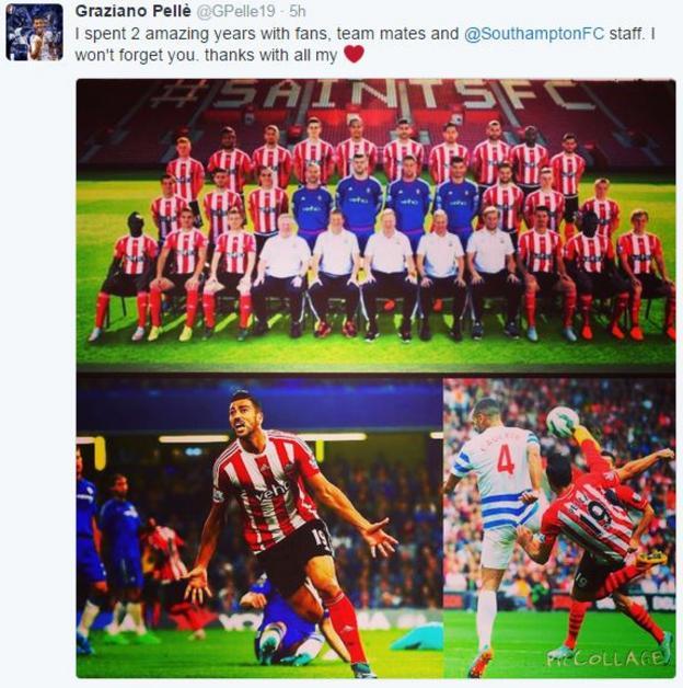 Graziano Pelle tweet