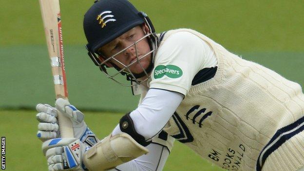 Middlesex batsman Sam Robson