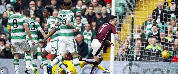 Hearts' Jamie Walker opened the scoring