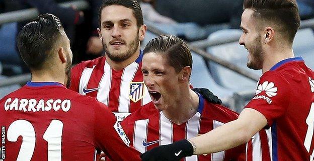Atletico striker Fernando Torres