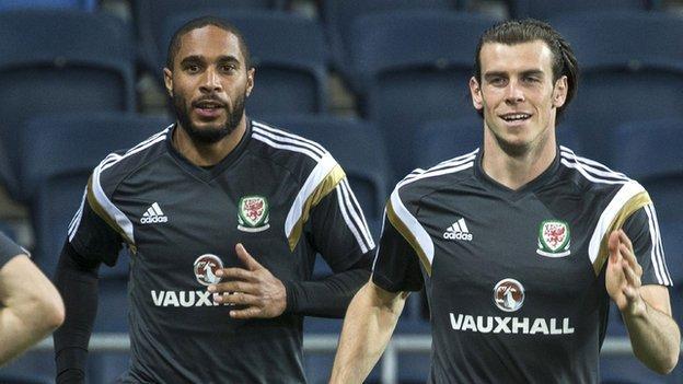 Ashley Williams and Gareth Bale