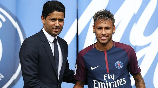 PSG's chairman and chief executive officer Nasser Al-Khelaifi