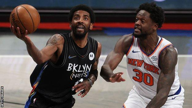 NBA: Kyrie Irving scores 40 points as Brooklyn Nets beat New York Knicks thumbnail