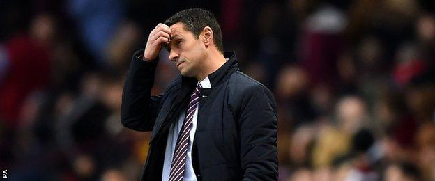 Remi Garde is still looking for his first win as Villa manager after eight games in charge