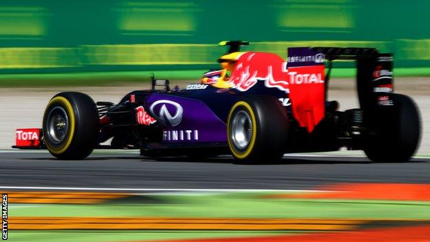 F1 driver Daniil Kvyat in action for Red Bull