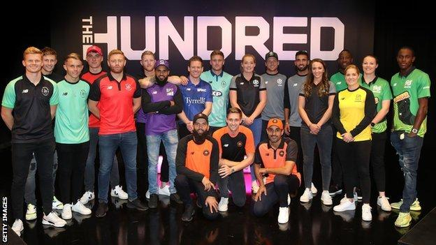 England players at the Hundred draft