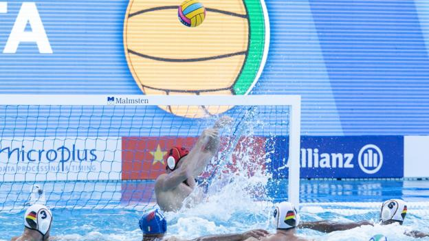 Match between Germany v Italy at the 33rd LEN European Waterpolo Championships 2018 on 16 July 2018 in Barcelona. (Photo by Urbanandsport/NurPhoto via Getty Images)