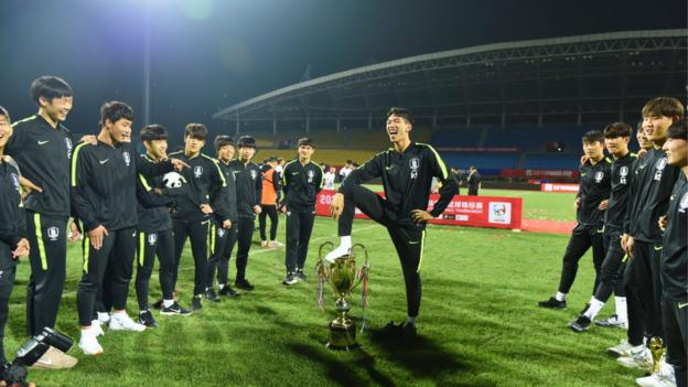 South Korea U18s stripped of trophy for 'indecent' celebration thumbnail