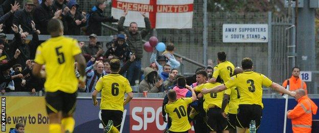 Chesham United celebrate