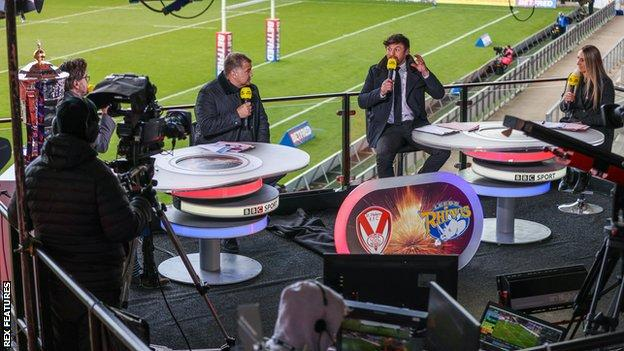 The Challenge Cup quarter-final draw took place live on BBC Two at half-time in the tie between Catalans and Wakefield