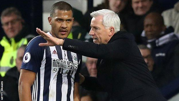 West Brom are currently bottom of the Premier League, seven points from safety