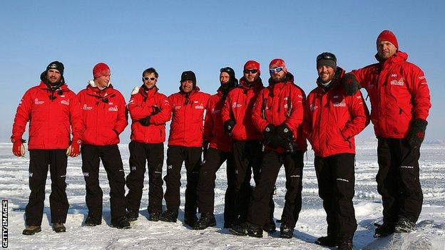 Walking With The Wounded expedition team with Prince Harry