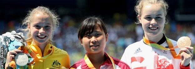 Maria Lyle, right, claimed a silver medal and two bronze at the Rio Paralympics