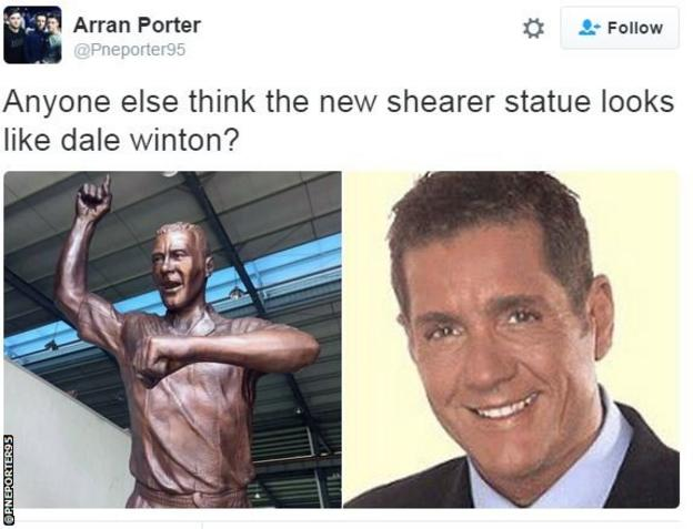 Sheare statue Dale Winton