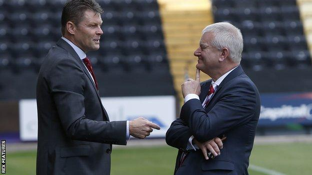 Steve Cotterill and Steve Lansdown