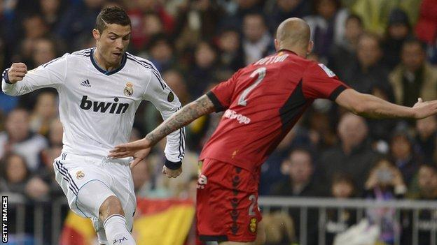 Alan Hutton came up against Real Madrid's Cristiano Ronaldo during his time on loan with Real Mallorca