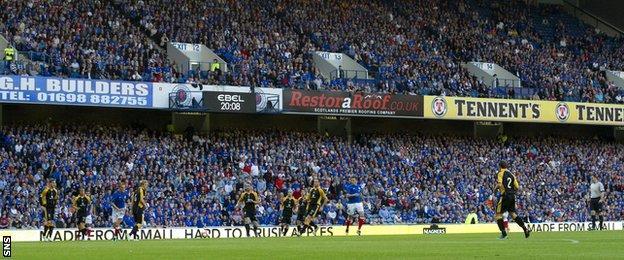 Rangers v East Fife in 2012