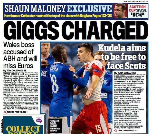 The back page of the Scottish Daily Mail on 240421