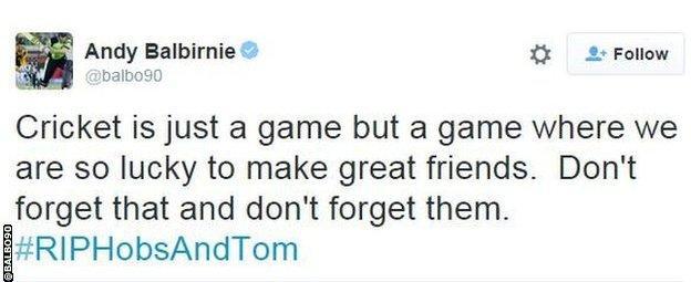 Andrew Balbirnie tweet snip