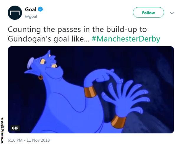 Goal tweet