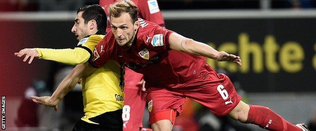 Stuttgart defender Georg Niedermeier