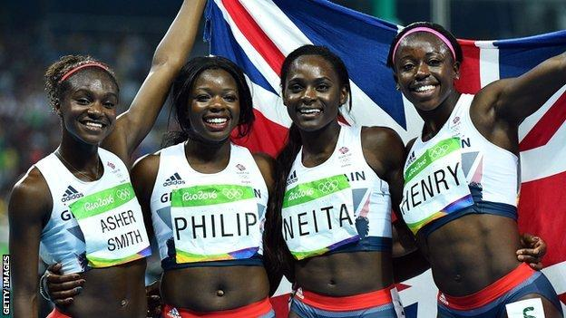 Great Britain's 4x100m women's relay