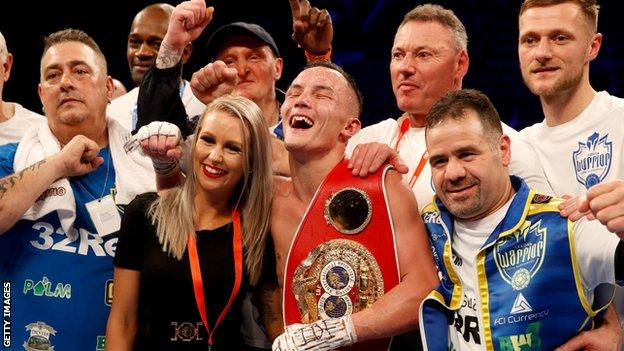 Warrington was praised by the likes of Anthony Crolla and Nicola Adams after his win