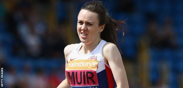 Laura Muir heads for victory in Birmingham