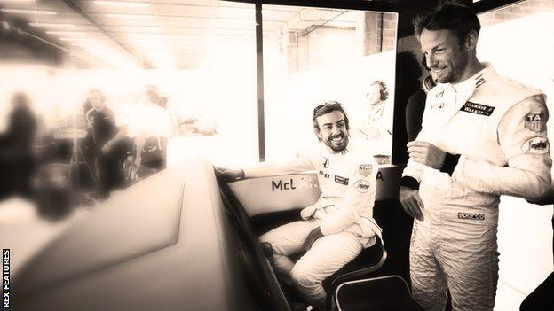 Jenson Button and Fernando Alonso