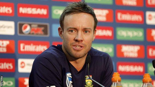 AB de Villiers made ducks in his last three Test innings - all against England in 2016