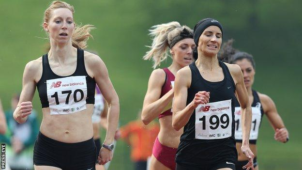 The women's 800m was the race of the day at last year's meeting