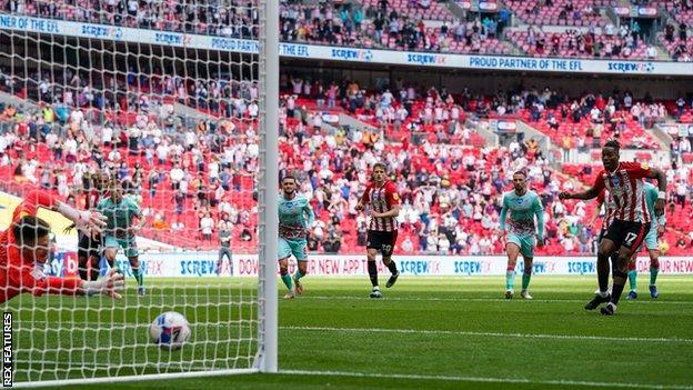 Ivan Toney's start was his eleventh successful free kick this season