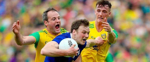 Action fron the 2019 Ulster final between Donegal and Tyrone