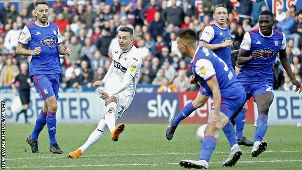 Bersant Celina had got Swansea City back to 2-2 with his strike