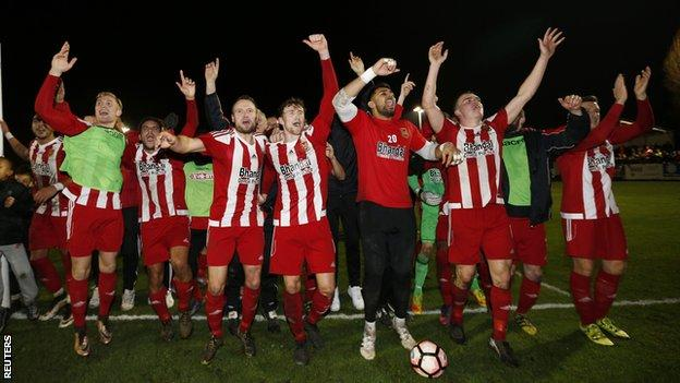 Stourbridge made the third round for the first time on their last FA Cup run in 2016, receiving a standing ovation at Wycombe after losing only to a late Adebayo Akinfenwa winner