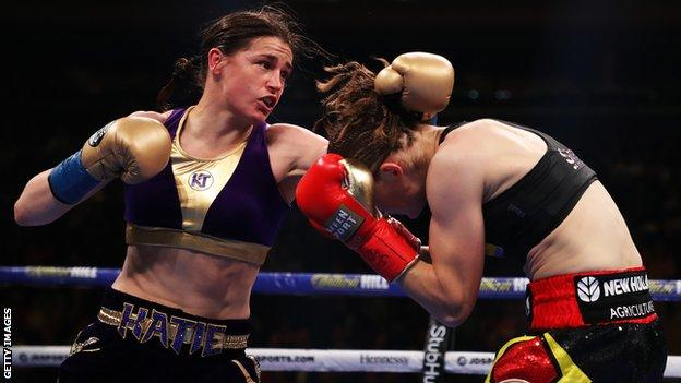 Taylor will attempt to become a two-weight world champion when she takes on Christina Linardatou
